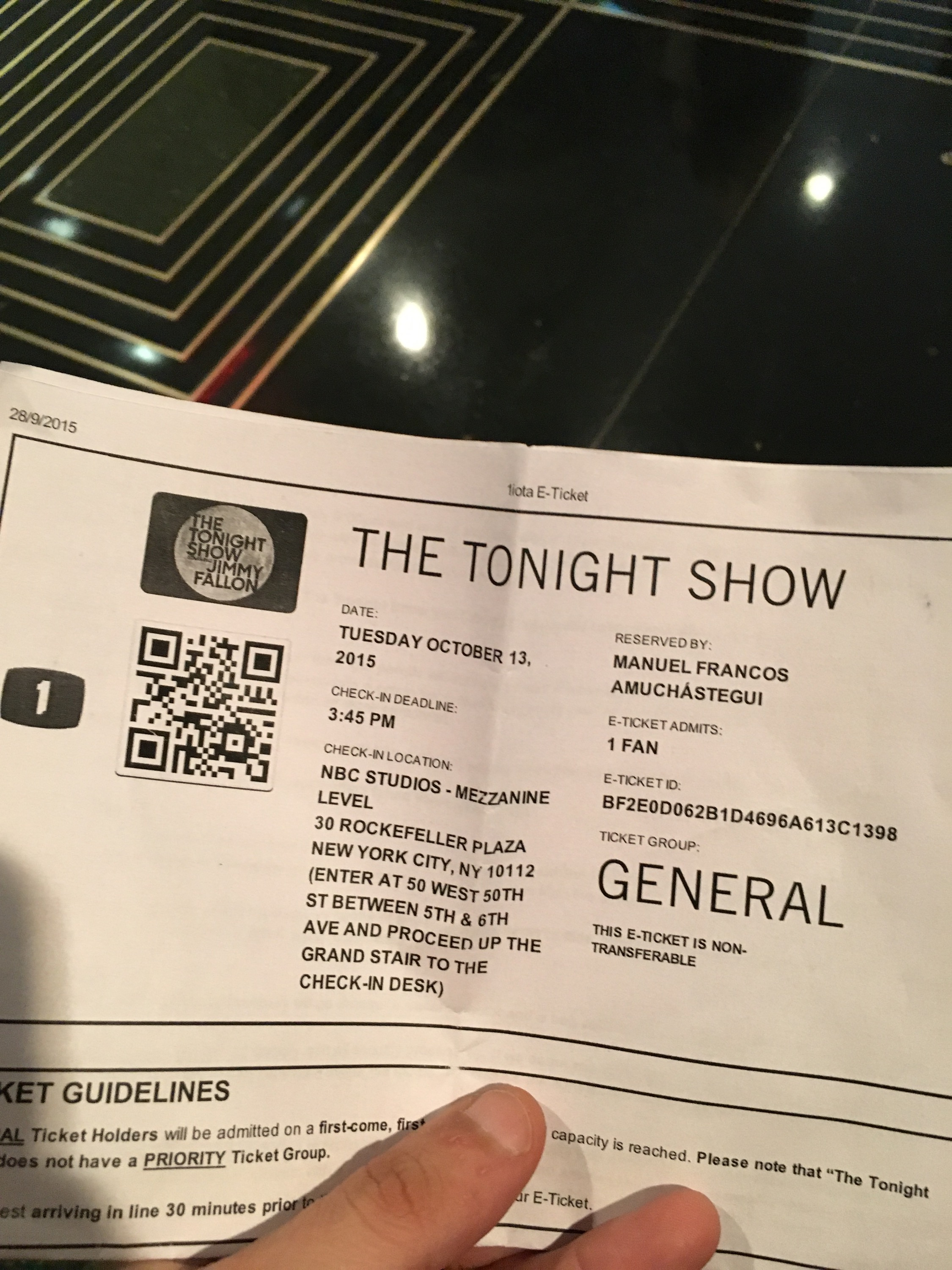 entrada the tonight show