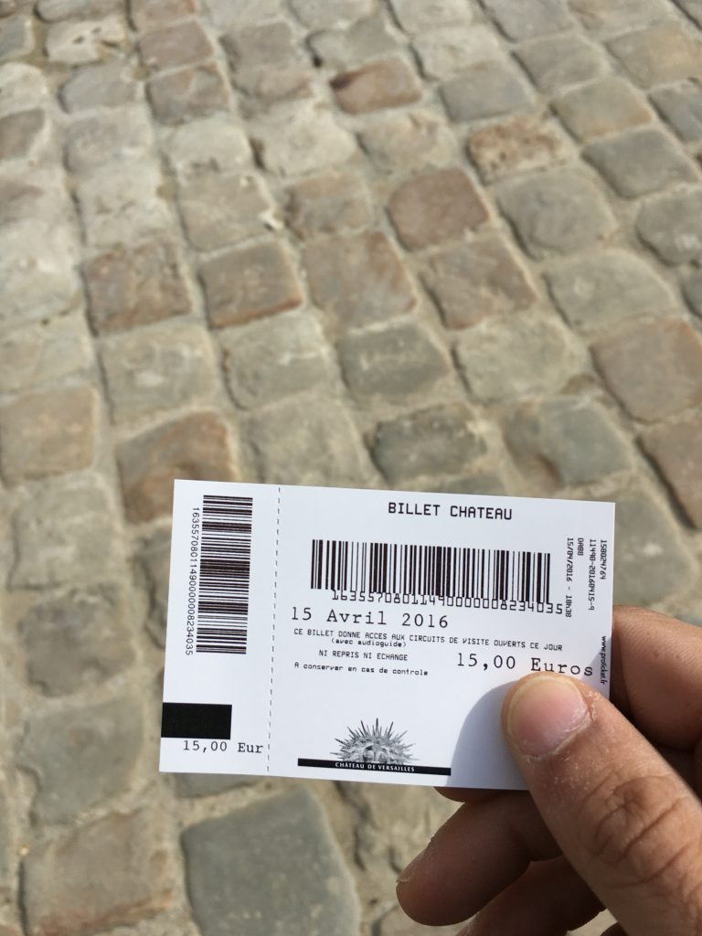 ticket versalles